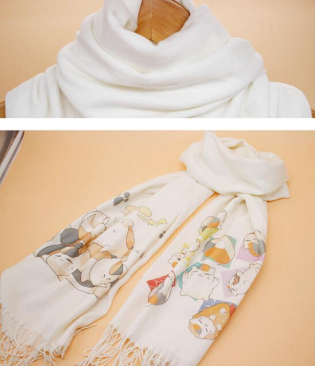 Natsume Yuujinchou scarves Scarf Cosplay Soft White Warm Cute Winter Scarf Shawl Fashion New CHRISTMAS Gifts in Boys Costume Accessories from Novelty Special Use
