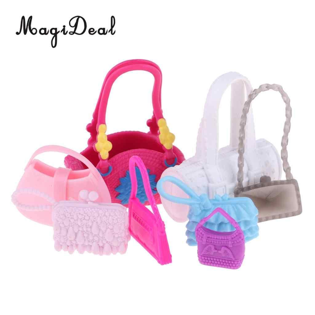 4fff532e01bc ... Pack of 8 Pieces Modern Design Stylish Handbag Purses Shoulder Bag For  Barbie Fashion Girl Dolls ...