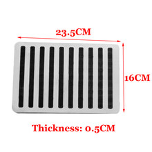 Universal Stainless Car Floor Carpet Mat Patch Foot Heel Plate Pedal Protector(China)