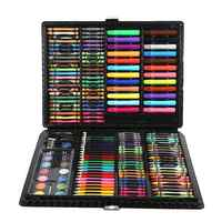168pcs Sets Art Watercolor Pen Crayon For Children Painting Toys Wax Crayon Baby Funny Creative Educational Oil Painting Set