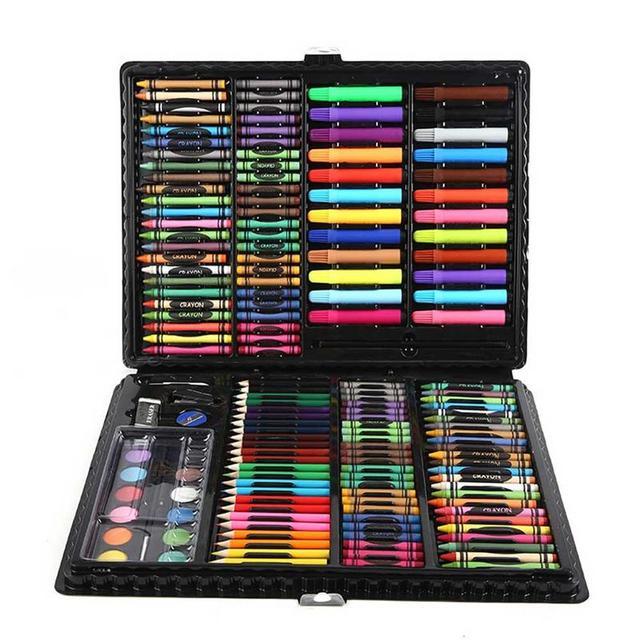 Juego de pinturas al óleo para niños con lápiz de acuarela de Arte de 168 piezas para niños
