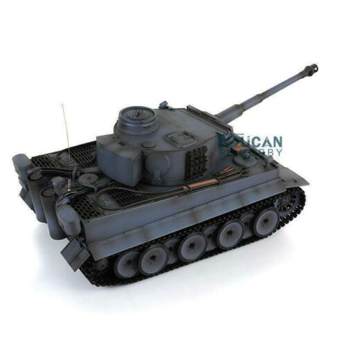 Henglong 1/16 Gray 6.0 Generation Infrared Combat Plastic Tiger I RC Tank 3818 Steel Gearbox Barrel Recoil TH12453