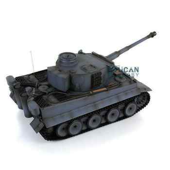 Henglong 1/16 Gray 6.0 Generation Infrared Combat Plastic Tiger I RC Tank 3818 Steel Gearbox Barrel Recoil TH12453 - DISCOUNT ITEM  5% OFF All Category