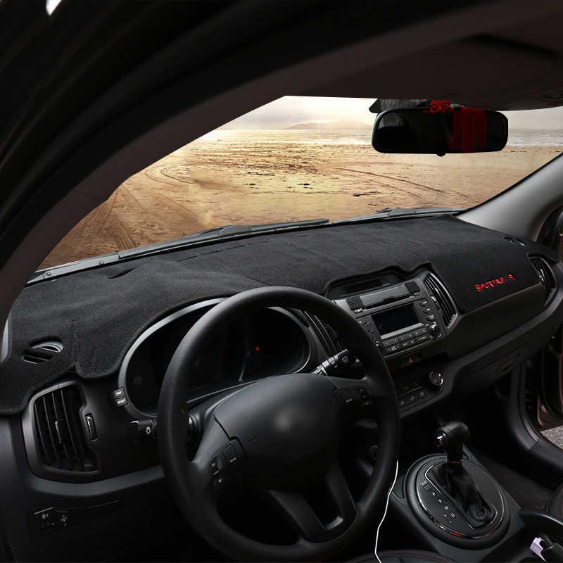 สำหรับ Kia Sportage R 3rd 2011 2012 2013 2014 2015 LHD แดชบอร์ดแผงควบคุมรถยนต์เสื่อหลีกเลี่ยงแสงแผ่น Anti-UV กรณีพรมอุปกรณ์เสริม