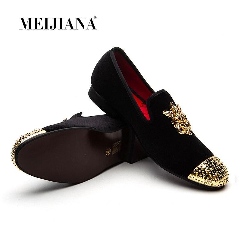 De Luxe Hommes Marque Meijiana En Main Occasionnels Cuir Mariage Chaussures Mocassins qO5axwE1n