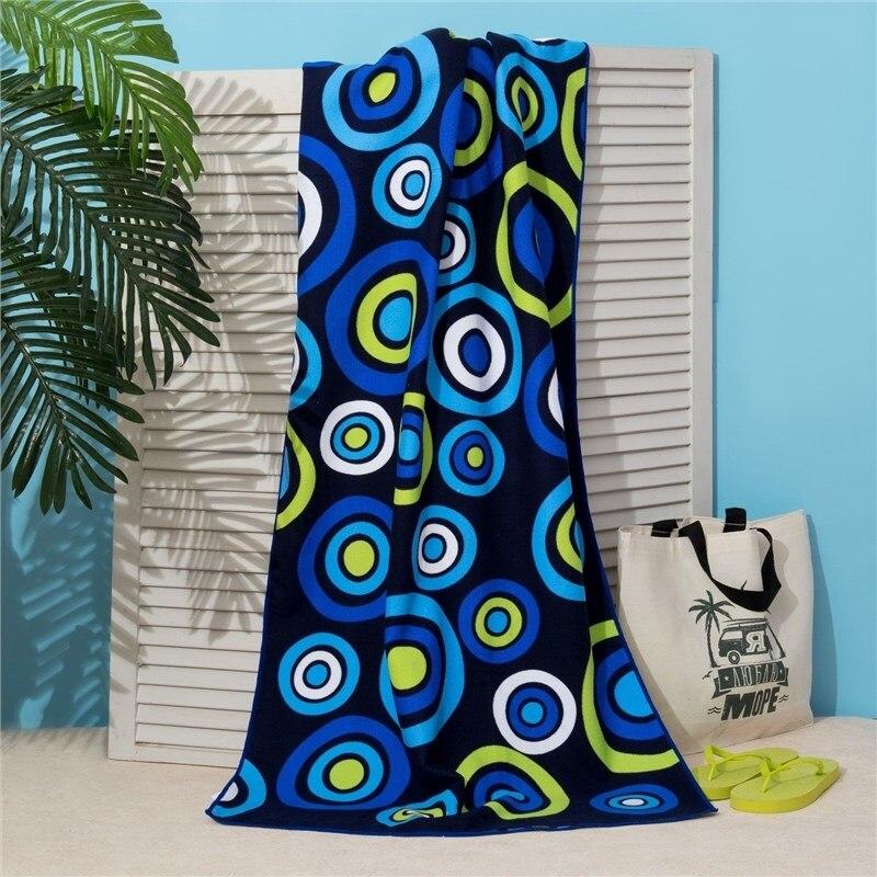 Фото - Towel beach Ethel 70*140 cm, Blue circles, microfiber 250гр/m2 3936318 lx 9001 microfiber hair drying towel hat shower cap white