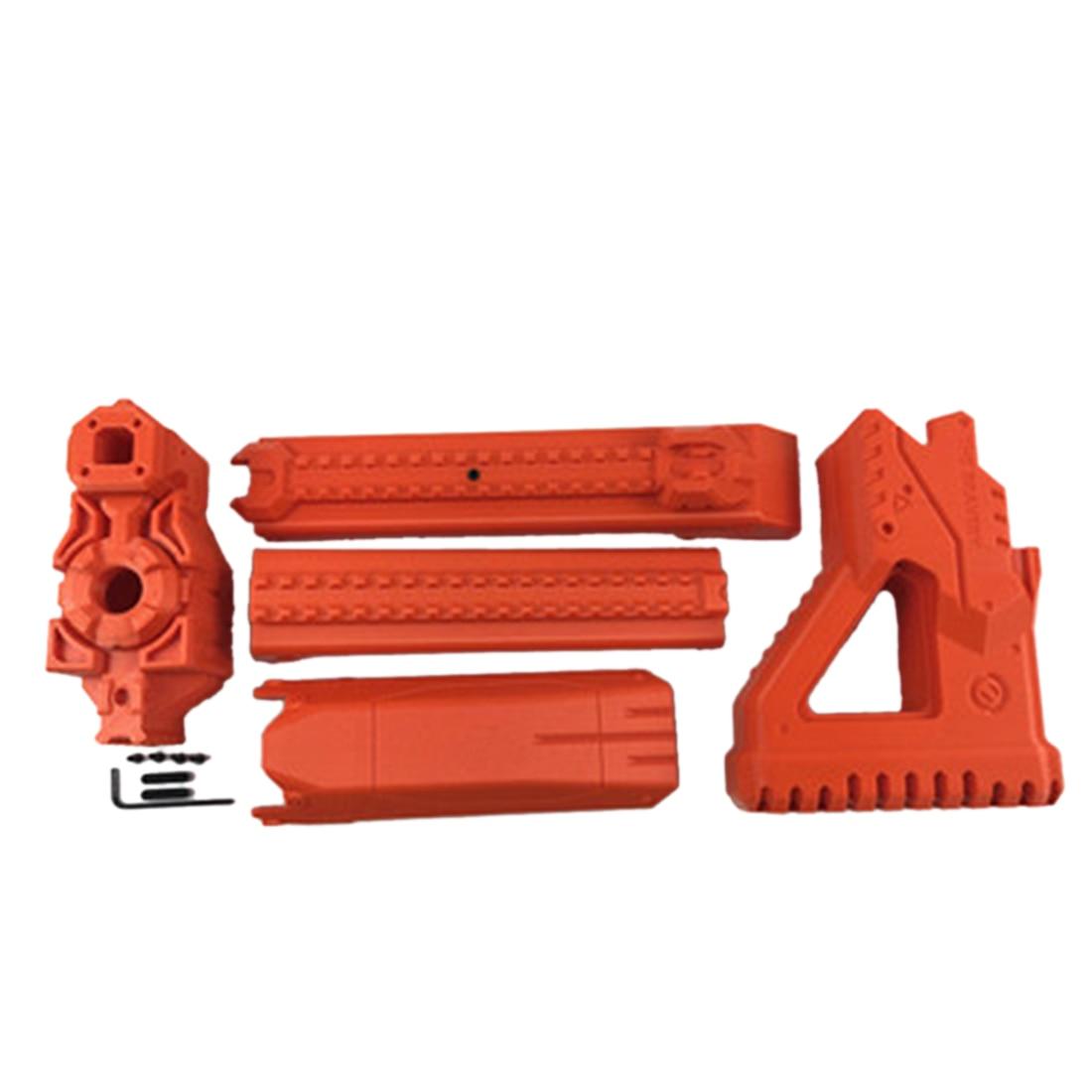 ML Un Type Baril avec Stock Kits pour Nerf Zombie Grève ZED Équipe Longshot CS-12 Blaster-Orange/Noir /gris/Bleu/Rose