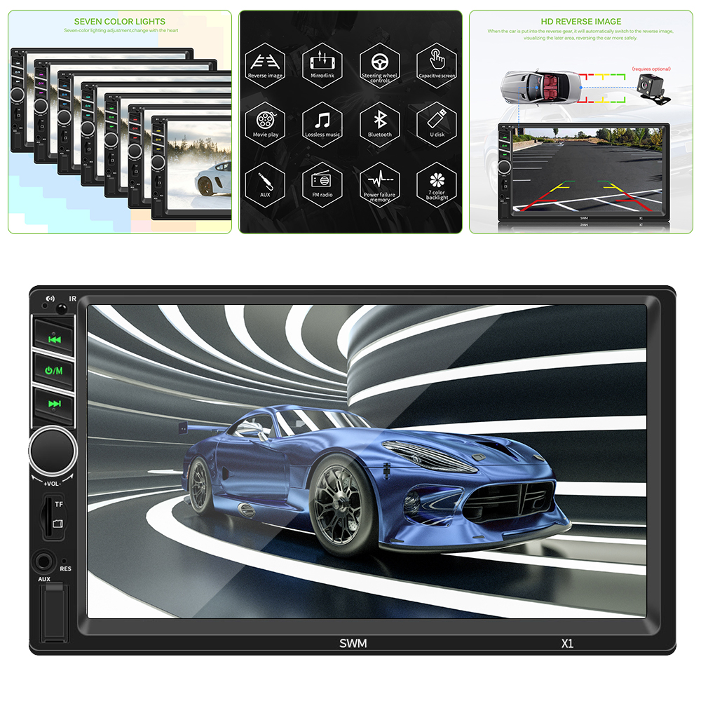 X1 7 Inch Car Mp5 Player Supporting Android 8 1 IOS Car Multimedia Player Autoradio 2din