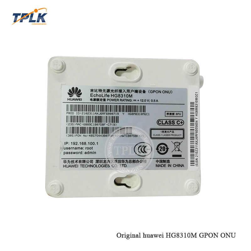 Бесплатная доставка оригинальный Хуа Вэй HG8310M gpon ONU/ONT Secondhand маршрутизатор с 1GE порт английская версия для FTTH mode Termina gpon