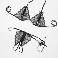 Sexy Women Transparent Lace Underwear Sets Open Bra And Sex Panties Sex Set Crotchless Woman Sexy Erotic Lingerie Set Intimates