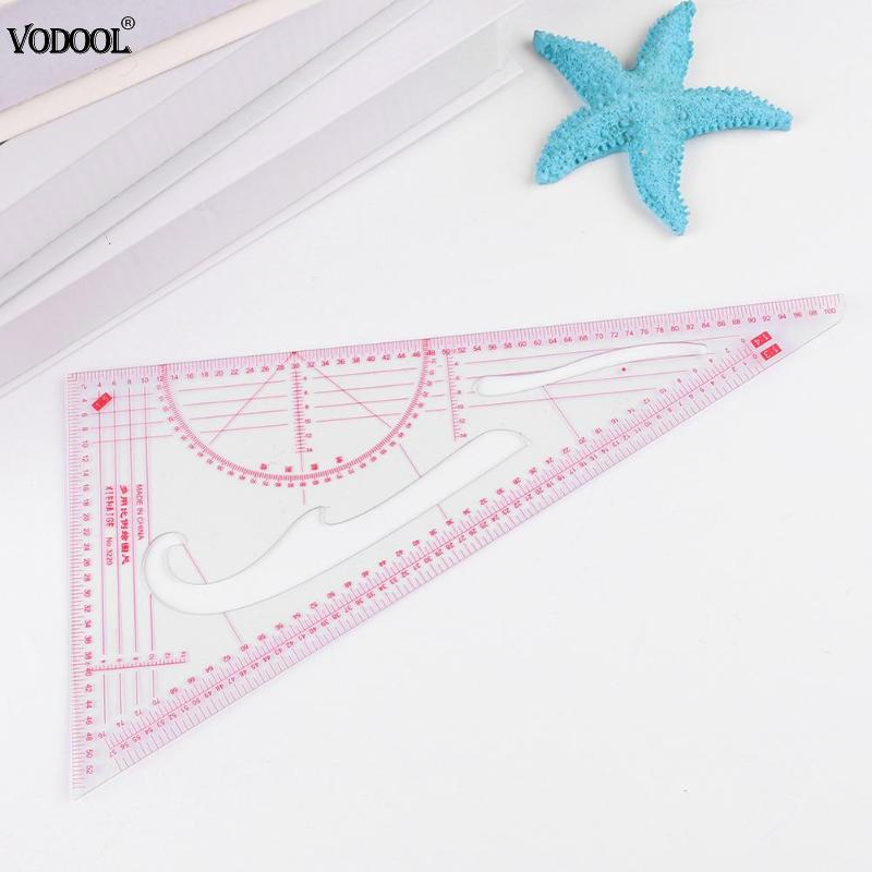 1pc Plastic Triangle Ruler Patchwork Ruler DIY Costume Sewing Tools Ruler Stationery High Accuracy Hand Measuring Student Tools