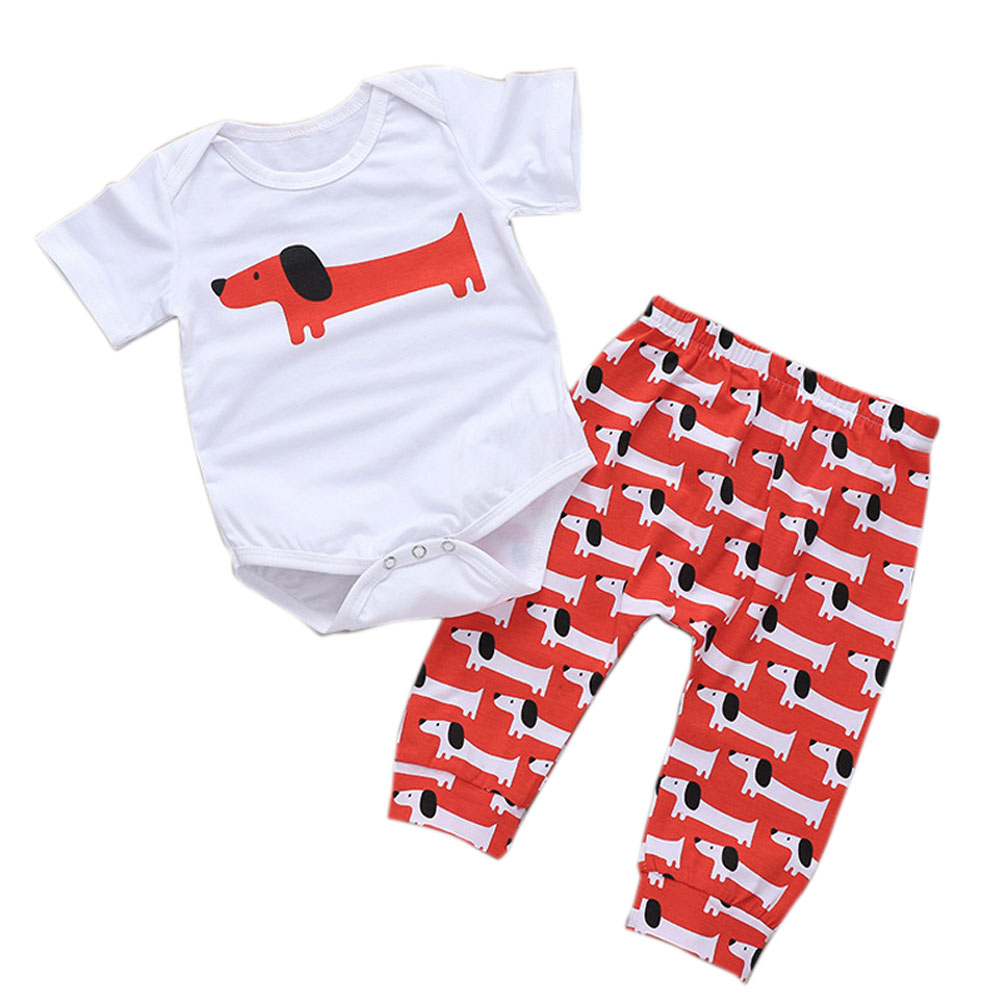 Комплект из 2 шт./компл., Детский комбинезон для мальчиков и девочек, костюм с длинными ушами и собаками, одежда с короткими рукавами, YJS, Пряма...