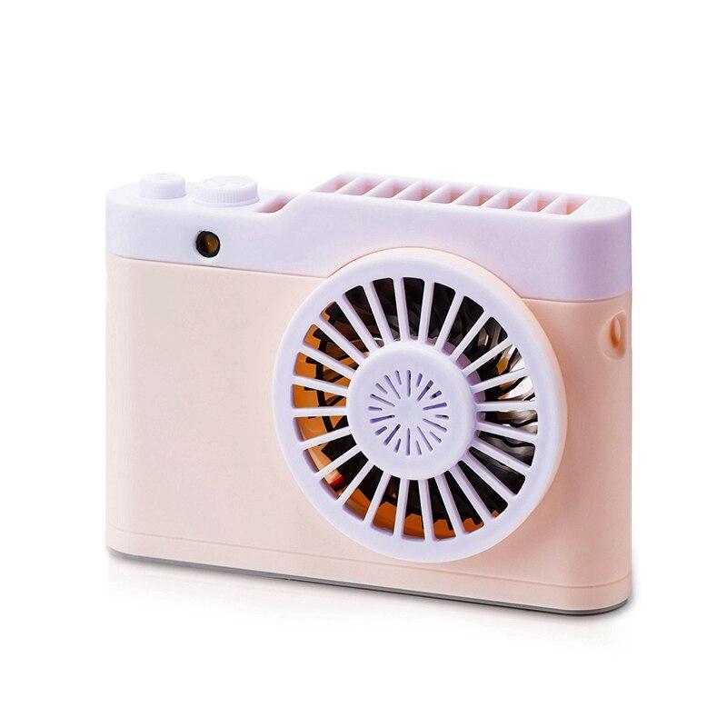 Portable Mini Usb Charging Camera Fan Hanging Neck Small Fan With Flashlight Function Small Fan Desktop Fan Fans     - title=