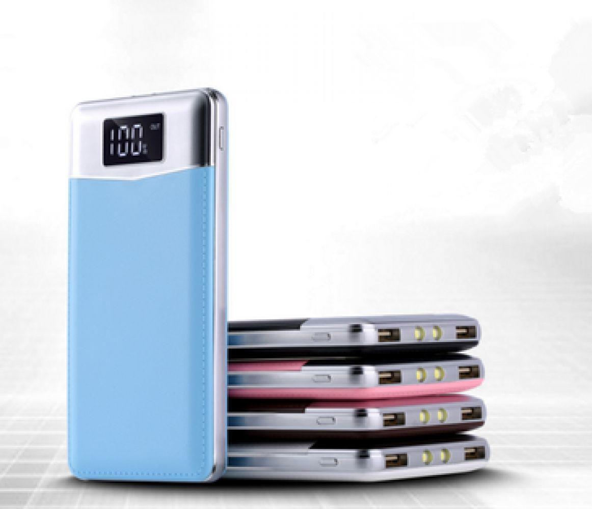 30000 mAh USB doble batería externa del banco de potencia USB LCD de teléfono móvil portátil cargador banco de energía para Xiao mi iPhone X Note8