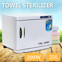 Electric Towel Warmer Hot Towel Cabinet 23L AU/US Towel Disinfection Cabinet UV Light Sterilizer Facial Salon Spa Towel Machine