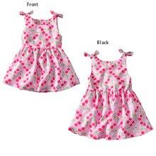 VTOM Summer  Baby Girl Dress Kids Cute Sleeveless Dresses Princess Clothes XN30