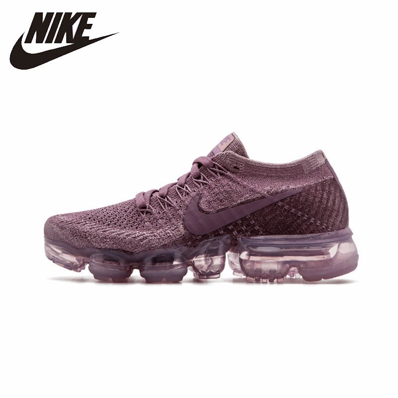 NIKE Official Air VaporMax Flyknit Women's Running Shoes  Breathable Sport Comfortable Sneakers 849557-500