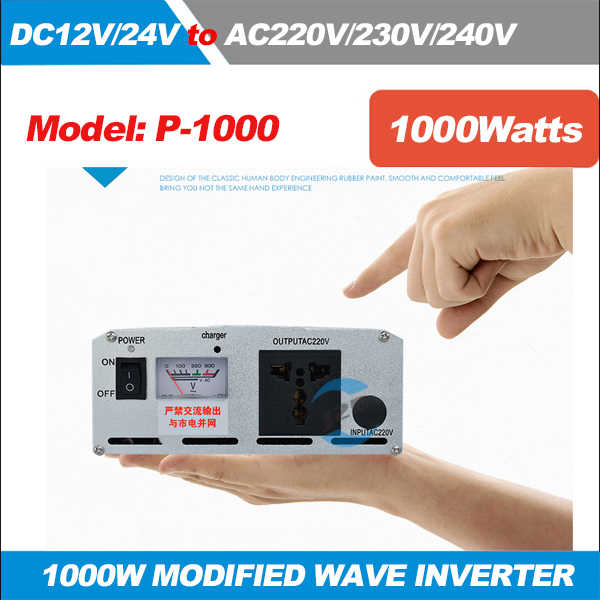 Inverter 12 V/24 V 220 V 1000 W 2000 W Peak Modified Sine Wave Power Voltage Transformer Inverter converter