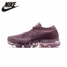 NIKE Official Air VaporMax Flyknit Womens Running Shoes  Breathable Sport Comfortable Sneakers 849557-500
