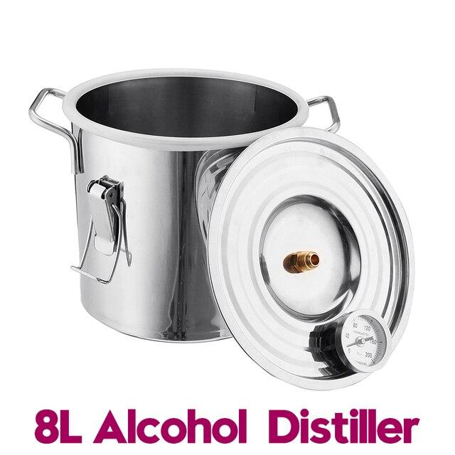 Distillateur vin bière alcool | Efficace, 8L distillateur Moonshine, alcool Kit de brassage de bricolage pour la maison, distillateur en cuivre, équipement de distillateur pour la maison