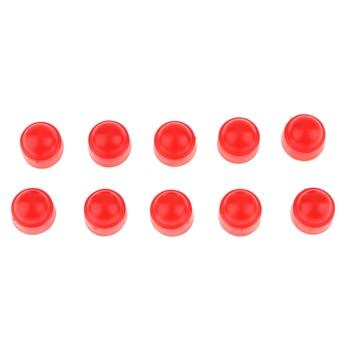 10 Uds. Tapa de plástico rojo, perno hexagonal, tuerca, tapas de protección M6 10x13mm 1