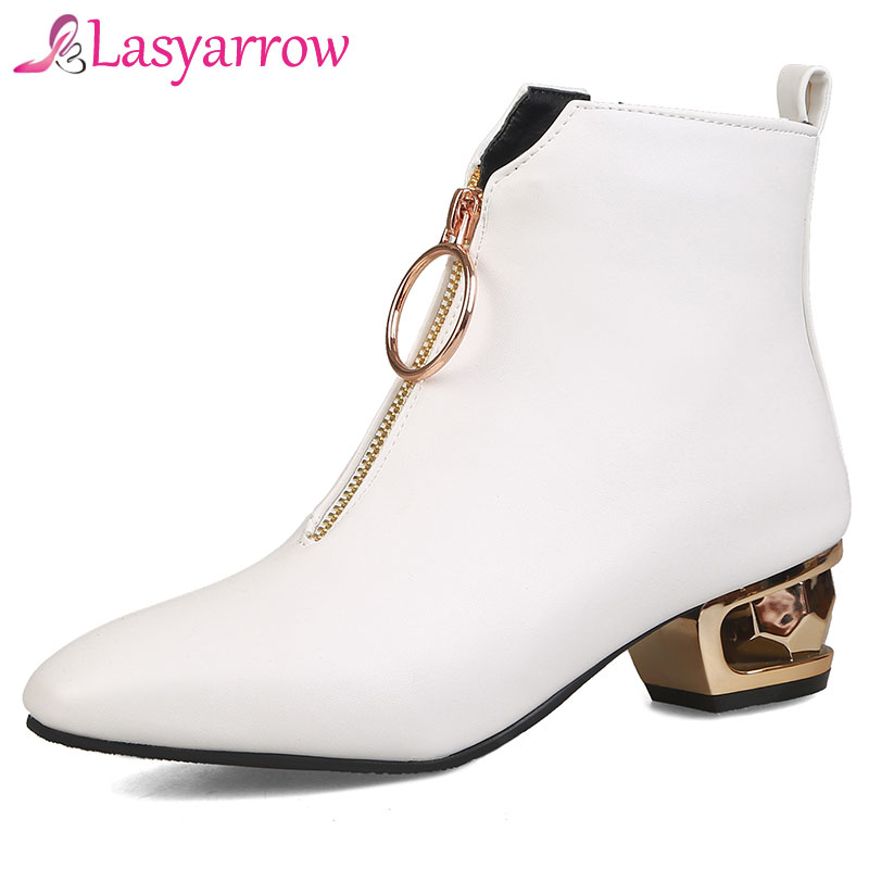 Lasyarrow Large Size 33-48 Womens Shoes Autumn Winter Ankle Boots For Women Black White Fashion Ladies Martin Boots SapatosLasyarrow Large Size 33-48 Womens Shoes Autumn Winter Ankle Boots For Women Black White Fashion Ladies Martin Boots Sapatos