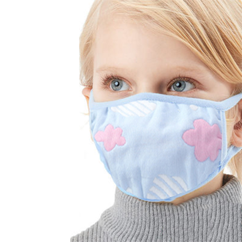 Sale 1pc Cute Cartoon Children Anti Dust Face Mouth Mask Muffle Non-fluorescent 6 Layers Kawaii Cotton Adult Mask