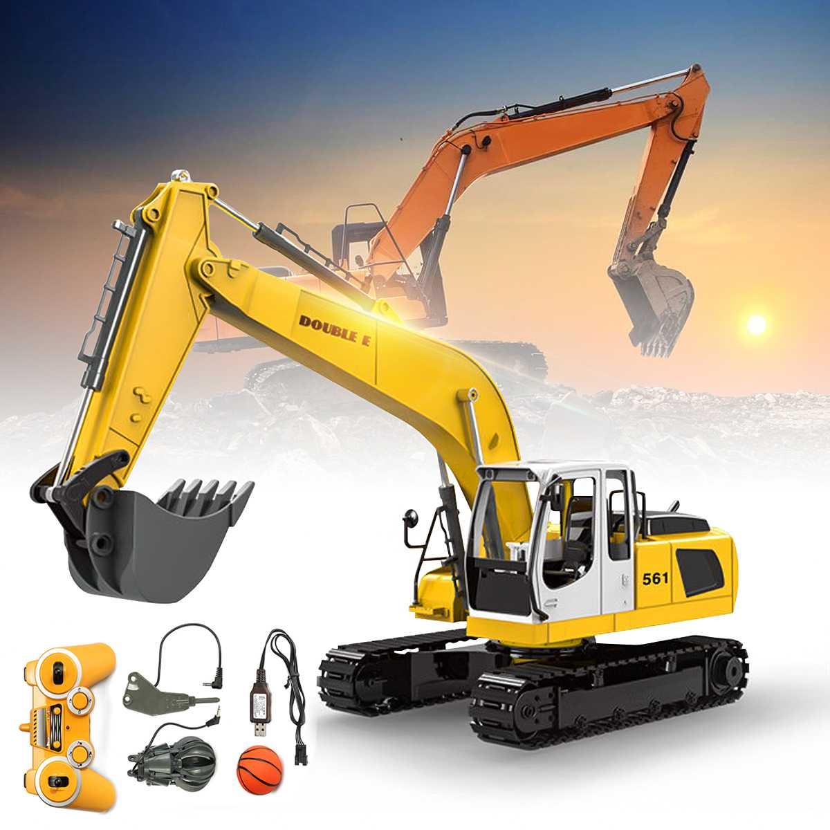 17 canaux 2.4G RC pelle jouets enfants garçons RC camion jouets cadeaux électronique RC ingénierie voiture tracteur pelle sur chenilles modèle
