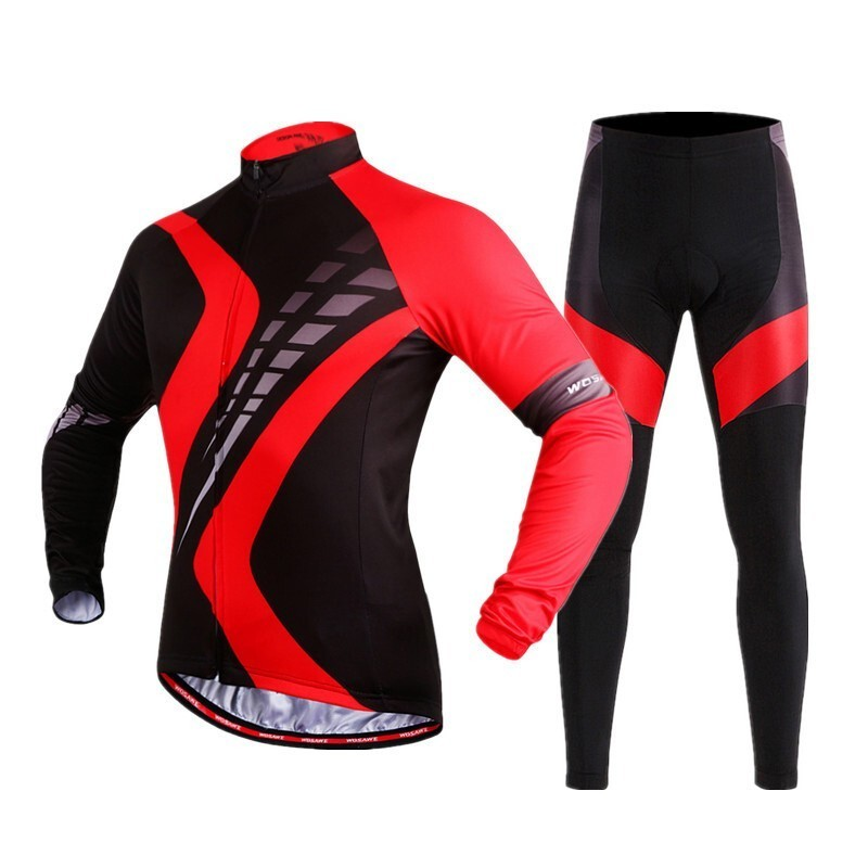 Vêtements de cyclisme maillot costume vêtements hommes femmes automne vélo Triathlon vélo garder au chaud vtt sport Long pantalon manches ensemble costume