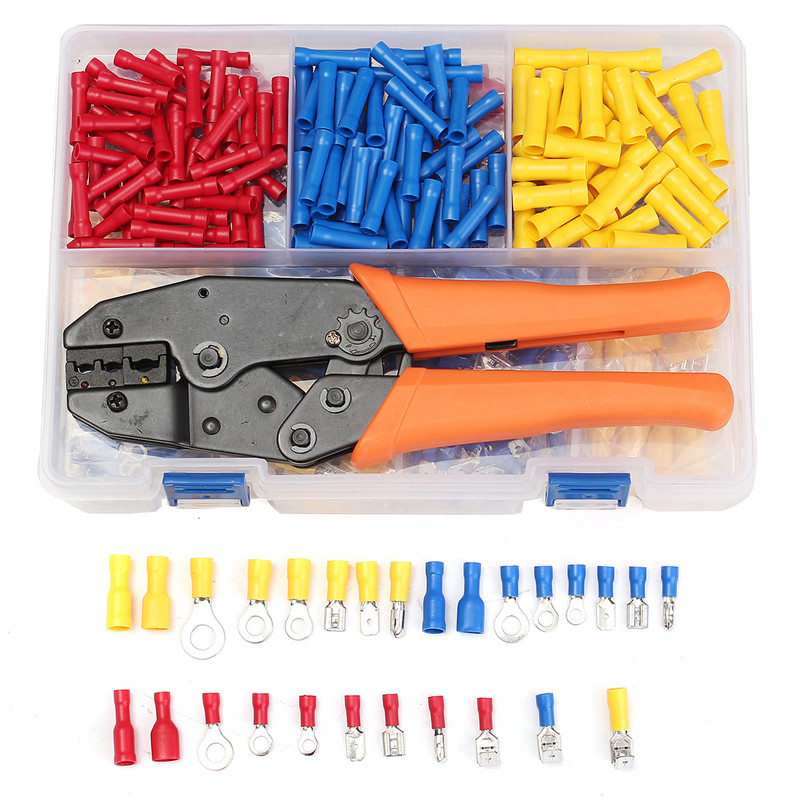 780Pcs Electrical Terminals Wire Connectors Set And Crimping Pliers Electrical Insulated With Box For Cable Wire 22-10AWG780Pcs Electrical Terminals Wire Connectors Set And Crimping Pliers Electrical Insulated With Box For Cable Wire 22-10AWG