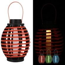 Solar Powered LED Pendant Light Waterproof Ceiling Lantern Lamp For Garden Courtyard glass pendant light