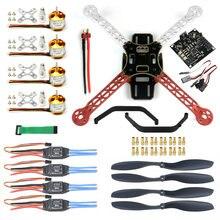 Rc zangão quadrocopter 4-axis kit de aeronaves f330 multicopter quadro kk xcopter controle de vôo sem transmissor sem bateria F02471-K