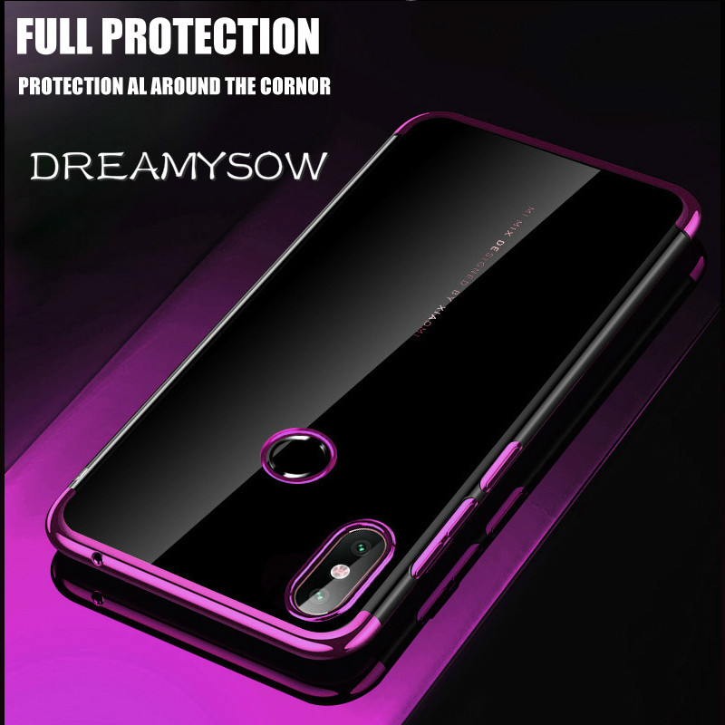 Case For Xiaomi Redmi Note 8 7 5A 5 6 Pro Luxury Plating Silicone Clear Cover Soft TPU Shell For Redmi 7A 6A 6 Pro 5 Plus Cover
