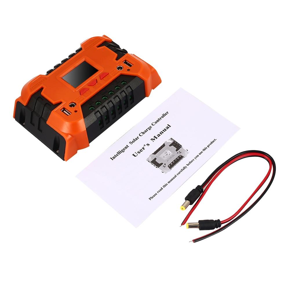10A 20A Солнечный контроллер ЖК-функция двойные солнечные панели из кремня регулятор прочный блок управления питанием панели солнечных батарей заряда батареи