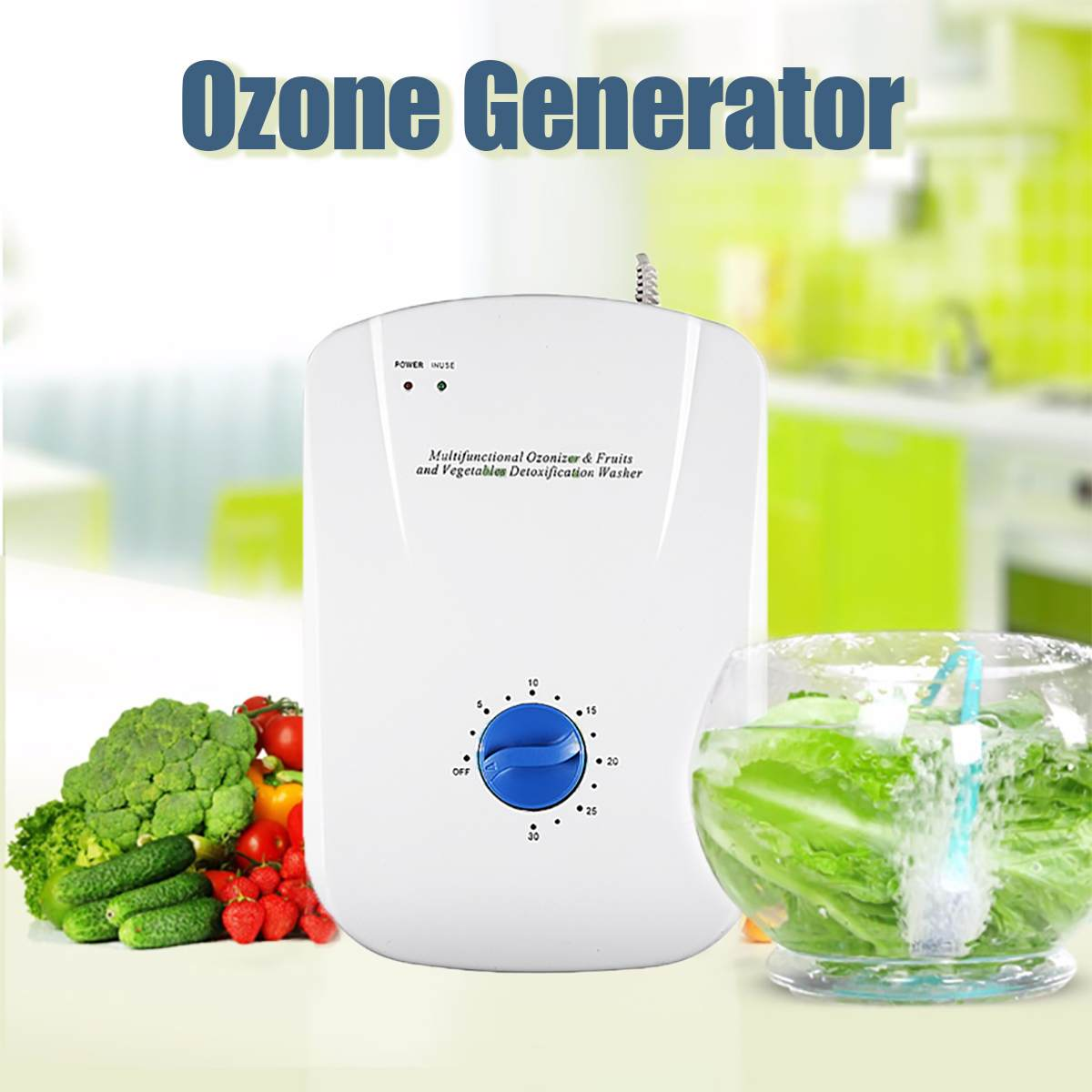 Портативный генератор активного озона стерилизатор очиститель воздуха Очистка фруктов овощей вода для приготовления пищи озонатор иониза...