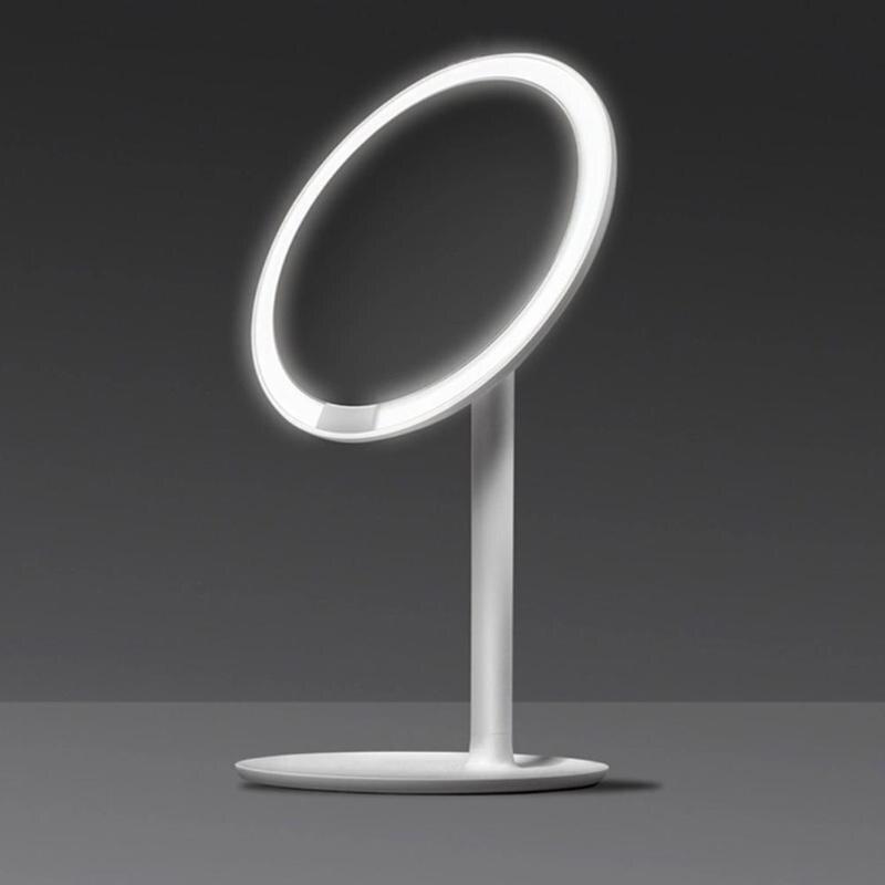 Xiaomi AMIRO AML004 espejo de maquillaje recargable ajustable de brillo LED HD maquillaje luz espejo Mijia espejo de maquillaje cosméticos-in Espejos de maquillaje from Belleza y salud    2