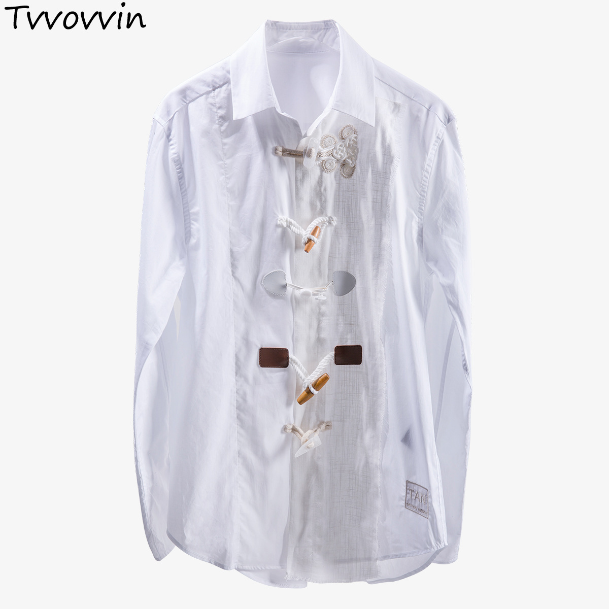 TVVOVVIN Summer 2019 New Lapel Long Sleeve Unique Design With Different Buttons Streetwear Shirt Women Fashion