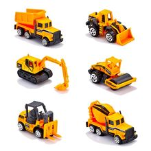 1:64 Metal Diecast Engineering Toy Vehicle Alloy Mini Car Model Dump Truck Forklift Excavator Play Set Gift