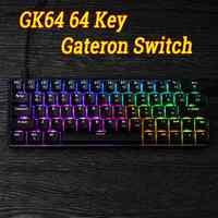 Game KeyboardGK64 64 Key Gateron Switch Mechanical Keyboard Geek Hot Swappable CIY Switch RGB Backlit Mechanical Gaming Keyboard
