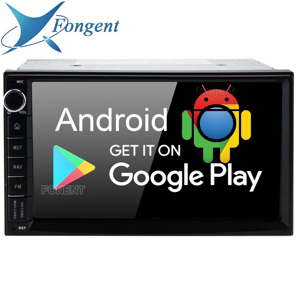 2 7 polegada Android 9.0 Universal Double Din para Toyota Nissan Som Do Carro GPS Navigator Radio Multimedia PX6 IPS 4 gb + 64 Gb 8-Core