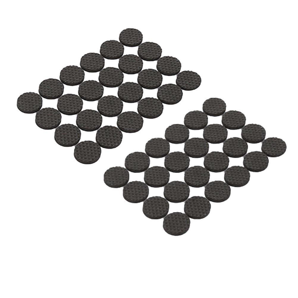 36 шт. 2,5 см Коврик для стола Нескользящие самоклеющиеся колодки напольные бесшумные протекторы покрытие для ног фурнитура для стола стула (круглый черный)