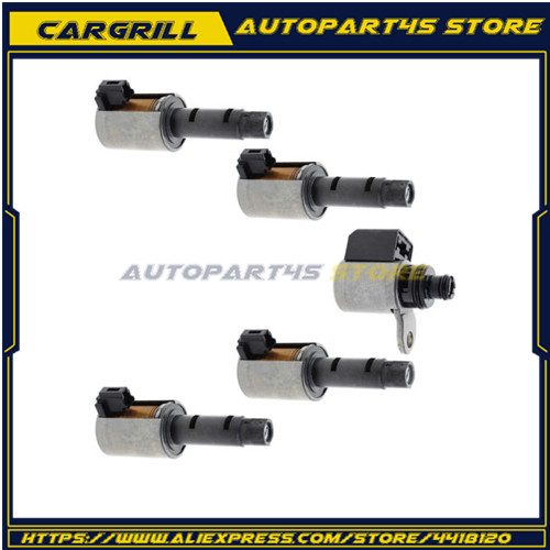 5pcs RE0F11A JF015E CVT Transmission Solenoid Copper + Metal Replacement For Nissan Sentra Tiida Versa Sylphy Auto 5pcs RE0F11A JF015E CVT Transmission Solenoid Copper + Metal Replacement For Nissan Sentra Tiida Versa Sylphy Auto