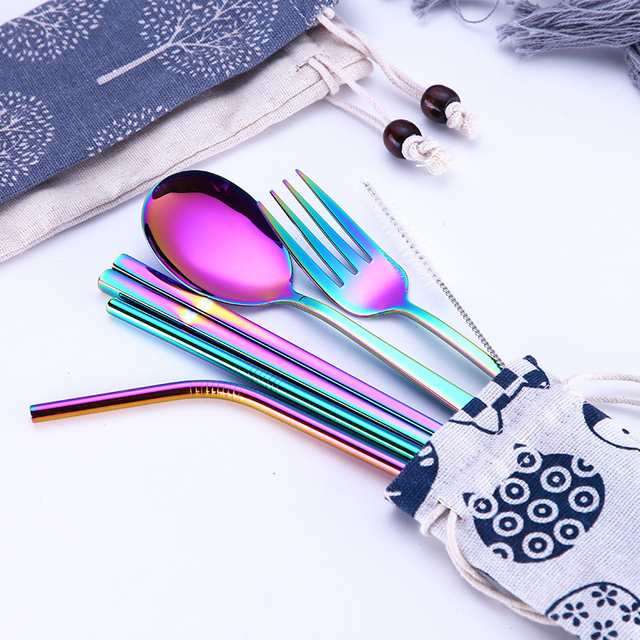 Stainless Steel Cutlery Set for Home and Travel