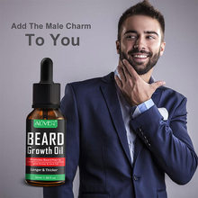 ALIVER Men Beard Growth Enhancer Facial Nutrition Moustache Grow Beard Shaping Tool Beard Care Product 30ml(China)