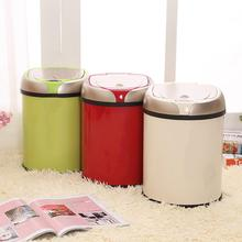 1 Pc 6/8L Induction Trash Can Smart Sensor Automatic Rubbish Dustbin Home Kitchen Stainless Steel Toilet Waste Bin
