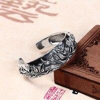 2019 любовь браслеты Feminina Jia Shun S990 тайский браслет трехмерные сокровища Цветок Пион Модные женские деньги