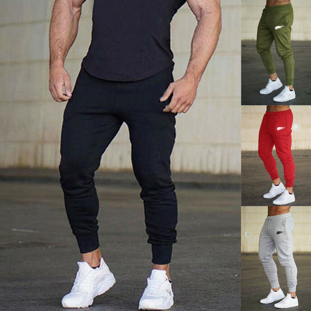 Track-Pants Trainning Sports Gym Men Sweats-Trousers Joggers Bottoms Hot Men's New-Style