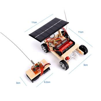 Assembly RC Toys DIY Mini Wooden Car  1