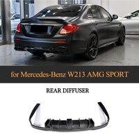 W213 задний диффузор для Mercedes Benz E250 E350 E400 E43 AMG E63 AMG бампер из углеродного волокна спойлер 2016 2018