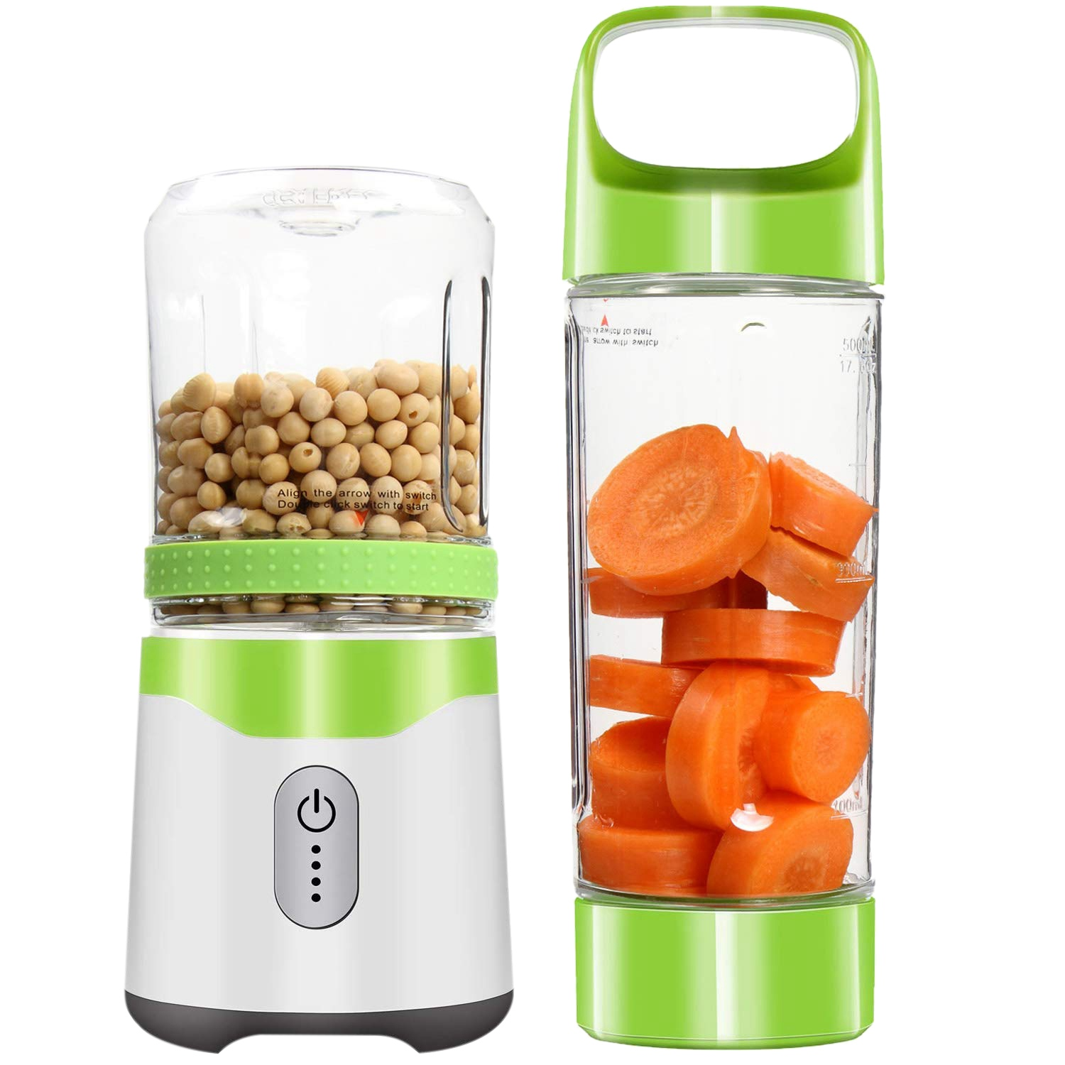 Portable Blender Usb Juice Blender Rechargeable Travel Juice Blender For Shakes And Smoothies Powerful Six Blades
